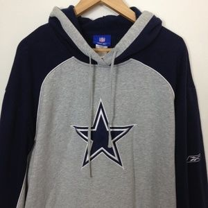 Reebok NFL Dallas Cowboys Men XL Hoodie Sweatshirt